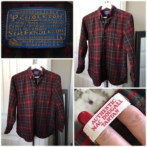 Vtg Pendleton Authentic MacDougall Tartan Shirt